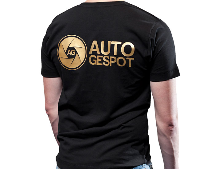Autogespot shirt (Goud)